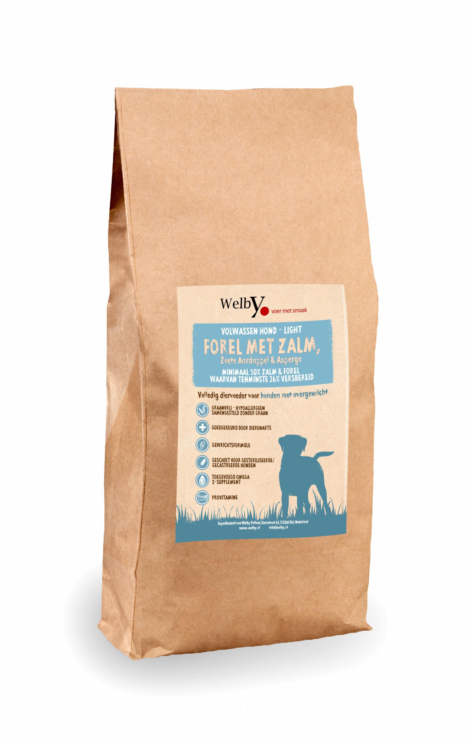 Welby Light Zalm hondenvoer graanvrij