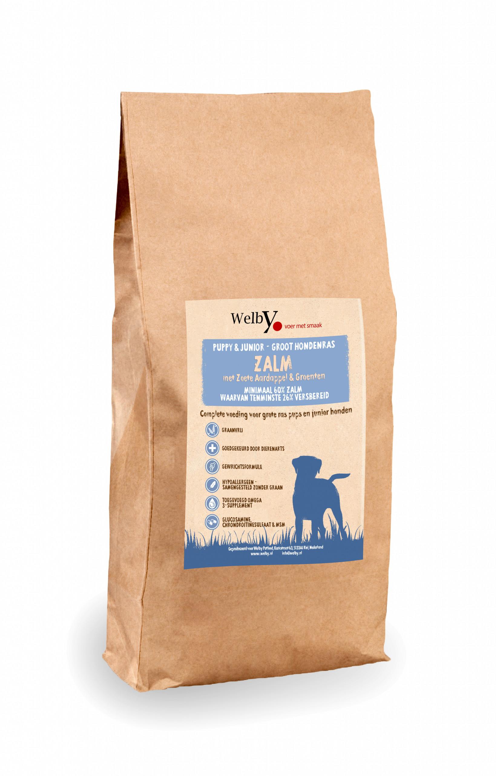 Welby Pupp groot hondenras hondenbrok graanvrij
